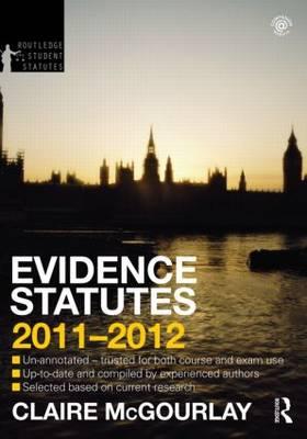 Evidence Statutes.