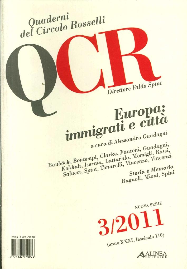 QCR. 3. 2011. Europa. Immigrati e Città.