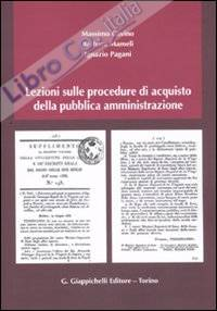 Lezioni sulle procedure di acquisto della pubblica amministrazione.