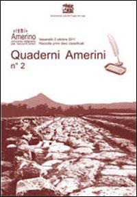 Quaderni amerini. Vol. 2.