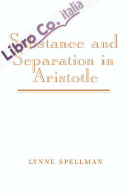 Substance and Separation in Aristotele