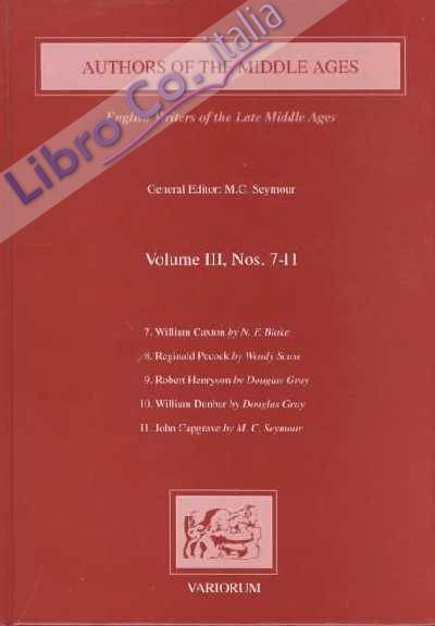 Authors of the Middle Ages. Volume III, 7-11