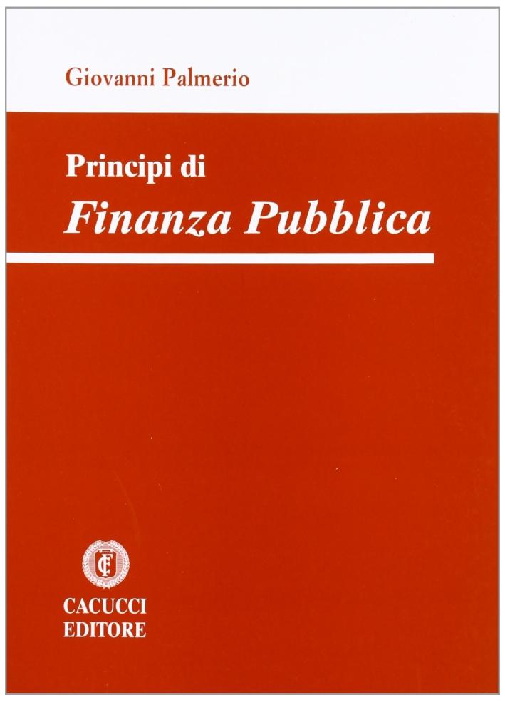 Principi di finanza pubblica.