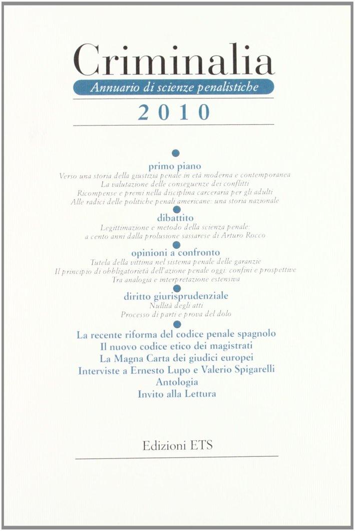 Criminalia. Annuario di scienze penalistiche. Vol. 5