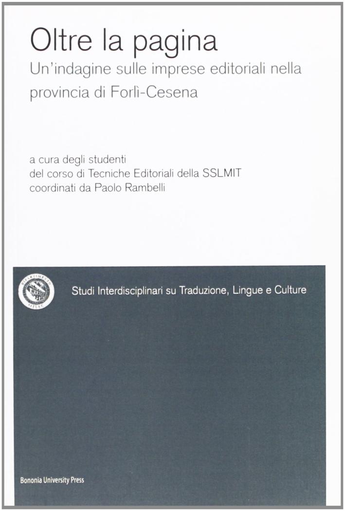 Oltre la pagina. Un'indagine sulle imprese editoriali nella provincia di Forlì-Cesena