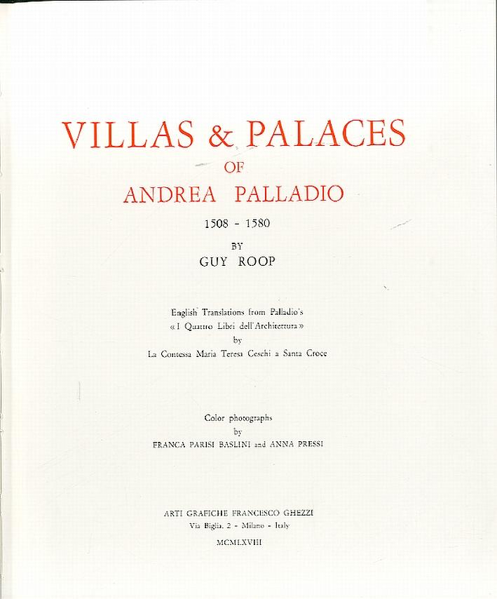 Villas and Palaces of Andrea Palladio 1508-1580