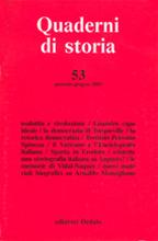 2 Quaderni di storia. 2001/53 1pc...