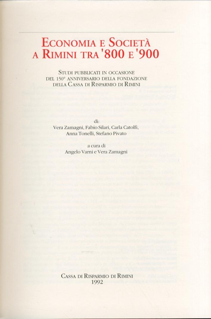 Economia e Società a Rimini tra '800 e '900