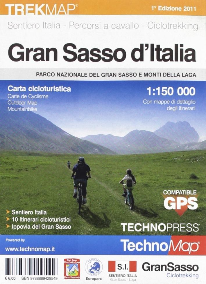 Gran Sasso. Carta cicloturistica