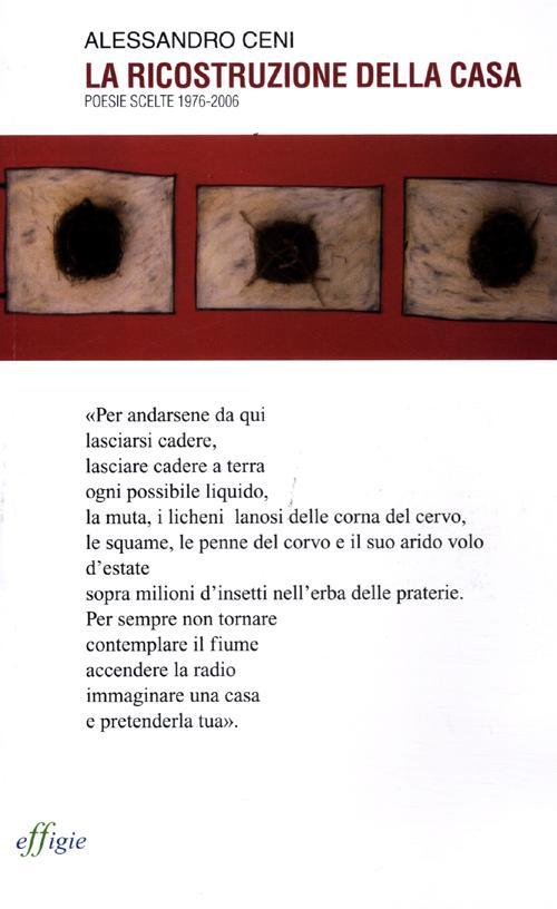 La ricostruzione della casa. Poesie scelte 1976-2006