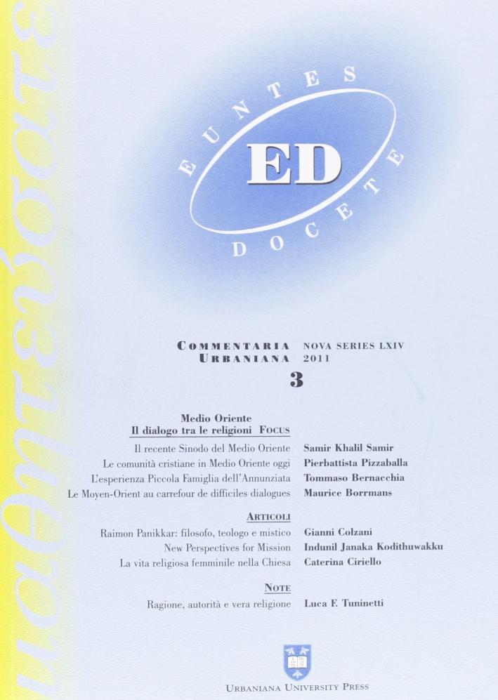 Euntes Docete (2011). Vol. 3
