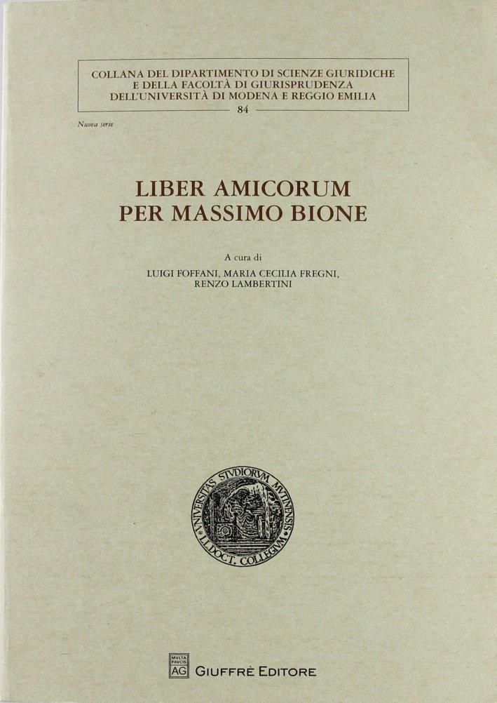 Liber amicorum per Massimo Bione