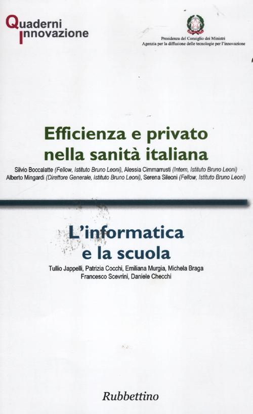 Efficienza e privato nella sanità italiana-L'informatica e la scuola