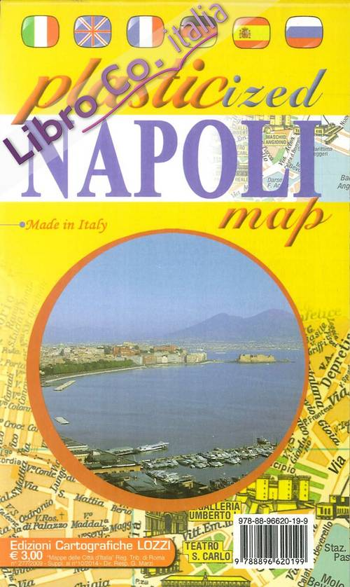Napoli. Plasticized map