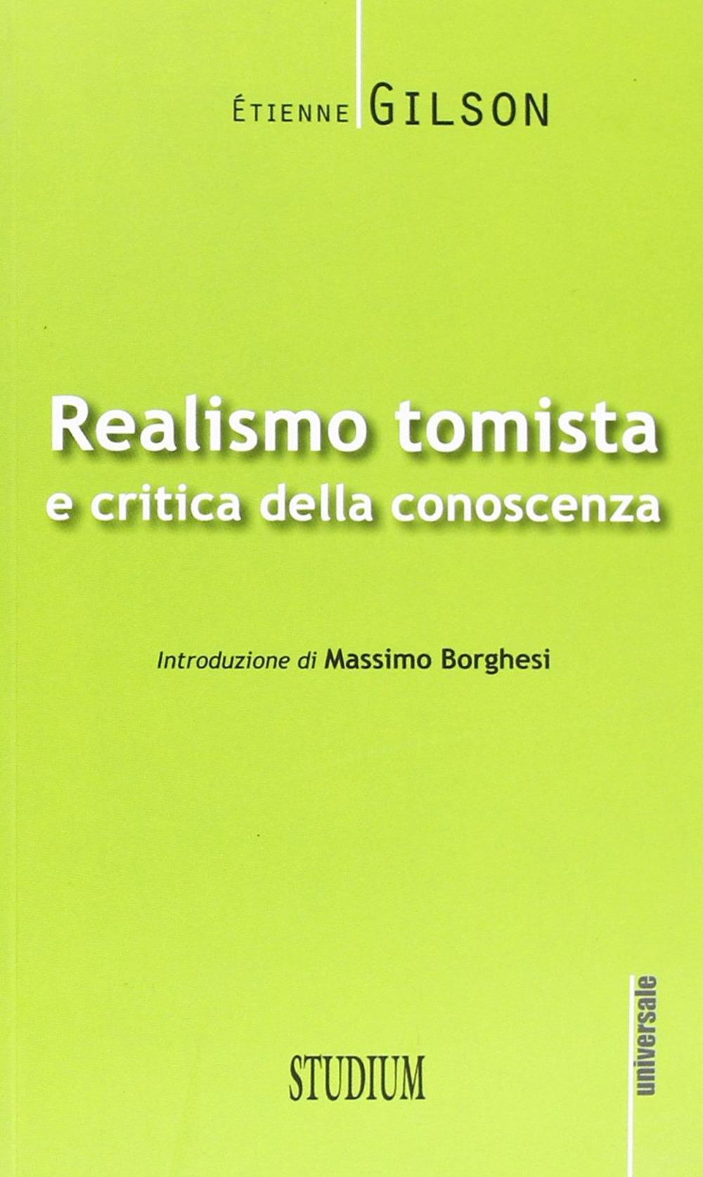 Realismo tomista e critica della conoscenza