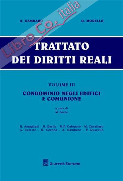 Trattato dei diritti reali. Vol. 3: Condominio negli edifici e comunione.