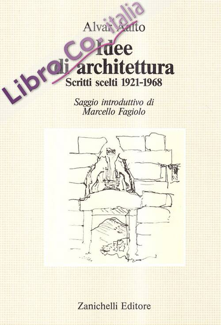 9788808026583 marcello fagiolo alvar aalto 1987 alvar Idee architettura