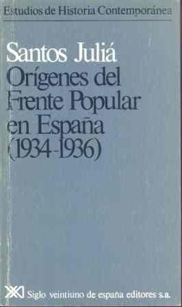 Origenes del frente popular en españa : (1934-1936)