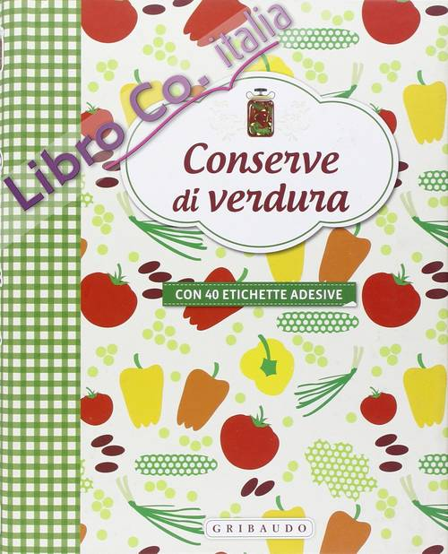 Conserve di verdura. Con adesivi