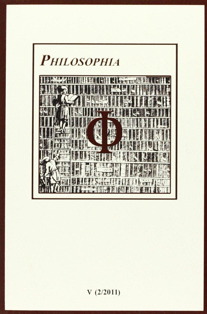 Philosophia. Bollettino della società italiana di storia della filosofia (2011). Vol. 5