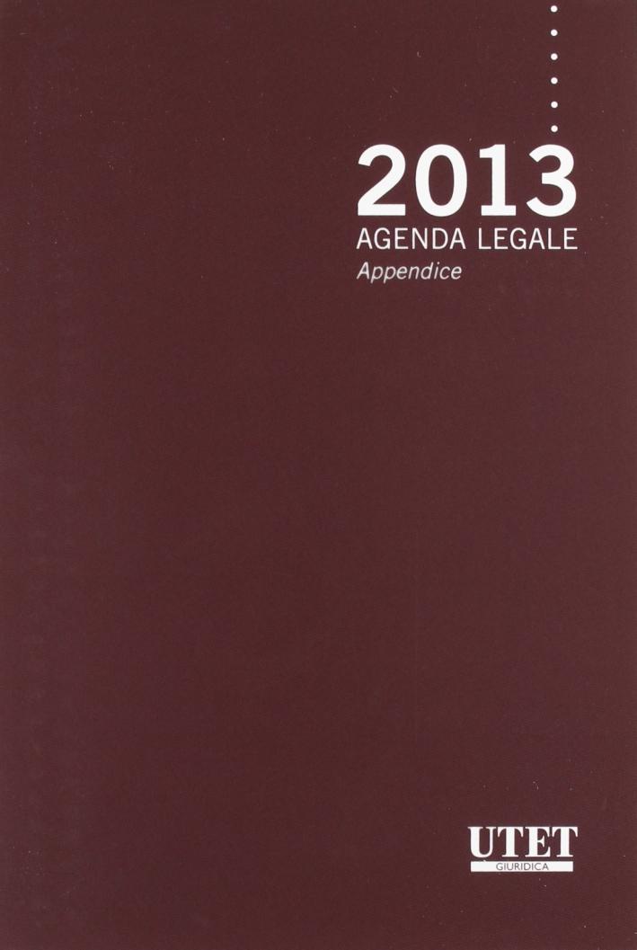 Agenda legale 2013 con appendice