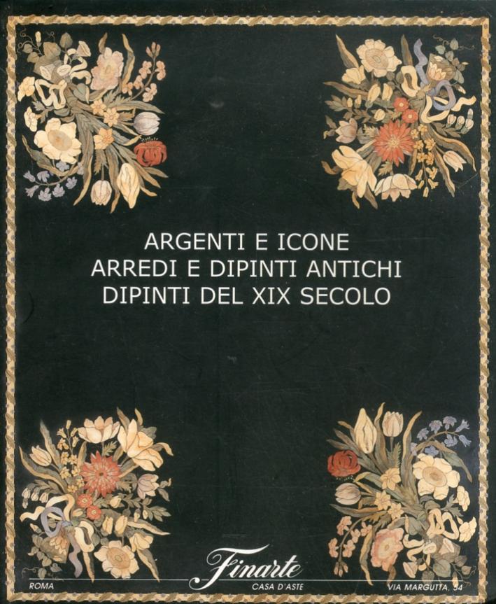 Argenti e icone. Arredi e dipinti antichi. Dipinti del XIX secolo. Asta 1175. Giugno 2002