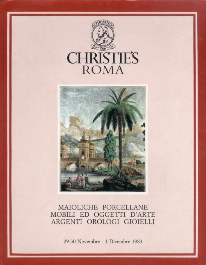 Maioliche. Porcellane. Mobili ed oggetti d'arte. Argenti. Orologi. Gioielli. Dicembre 1983
