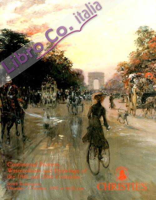 Continental Pictures, Watercolours and Drawings of the 19th and 20th Centuries. 1 October 1992