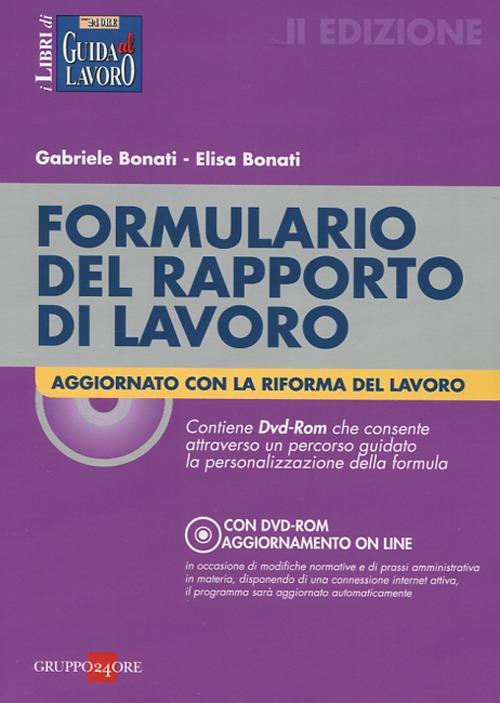 Formulario del rapporto di lavoro . Con DVD-ROM