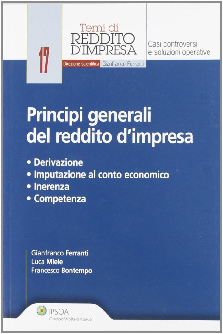 Principi generali del reddito d'impresa.