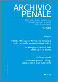 Archivio penale (2008). 3