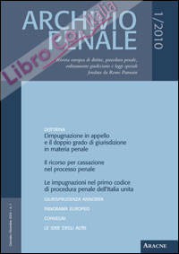Archivio penale (2010). Vol. 1. Gennaio - Dicembre
