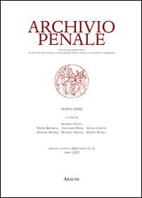 Archivio penale 2011. Vol 2