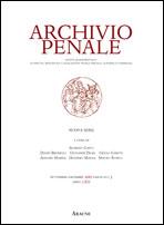 Archivio penale 2011. Vol 3