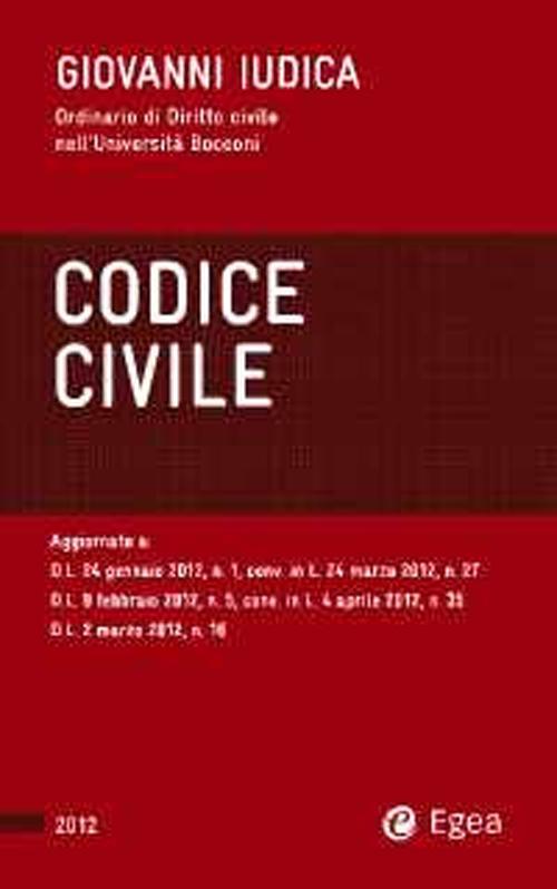 Codice civile 2012