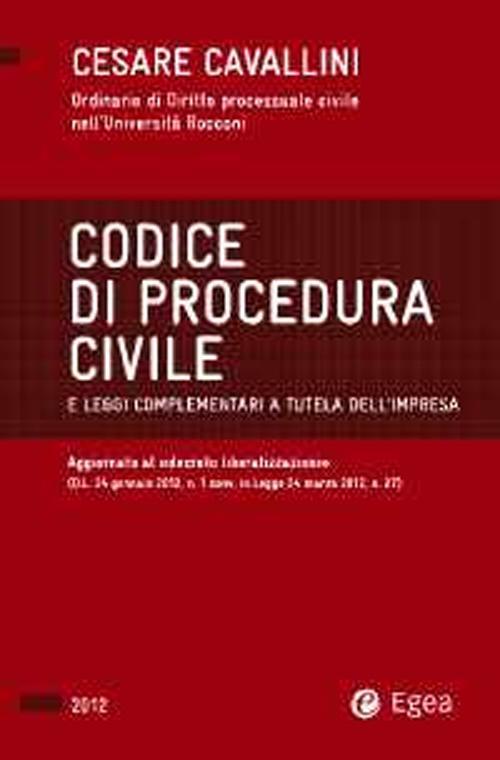 Codice di procedura civile 2012