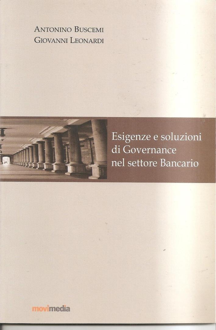 Esigenze e soluzioni di governance nel settore bancario