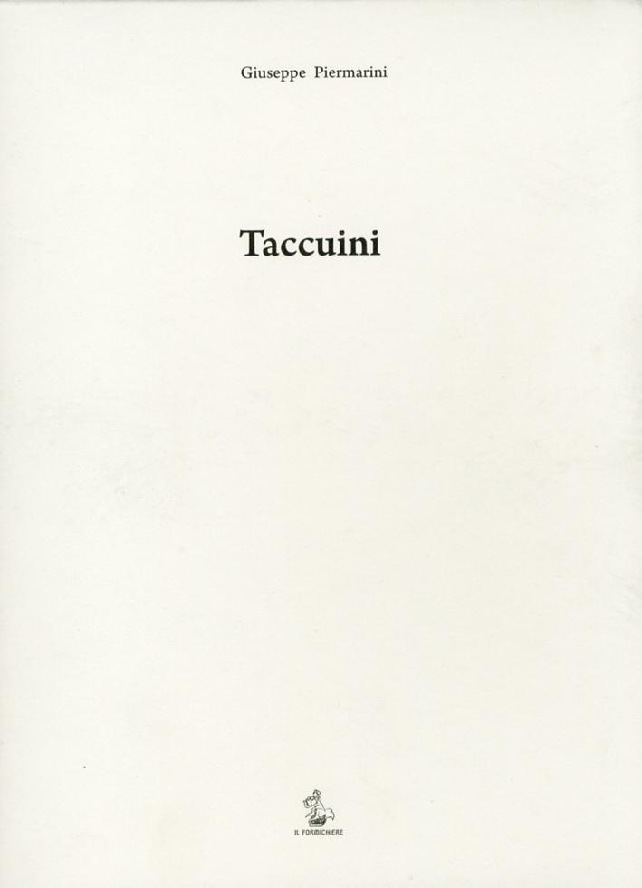 Taccuini. Tra le carte dell'Architetto Giuseppe Piermarini. [Ed. in facsimile]