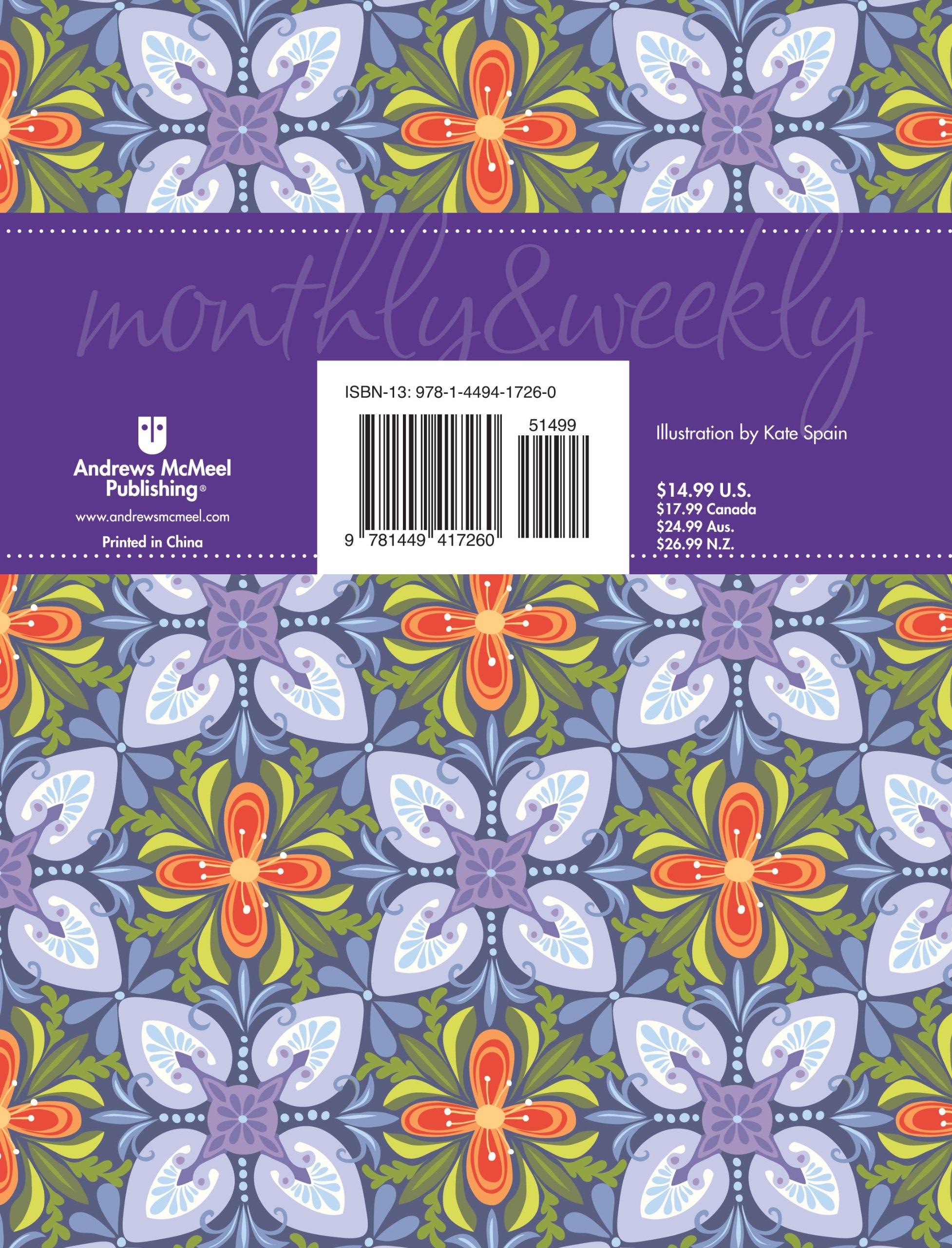 Posh: Kaleidoscope 2013 Monthly/Weekly Planner Calendar.