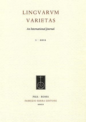 Linguarum Varietas. An International Journal. 1. 2012