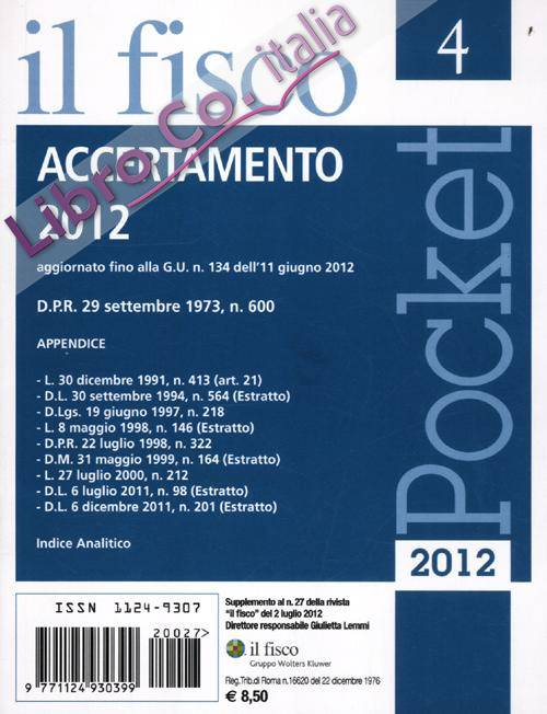 Pocket (2012). Vol. 4: Accertamento