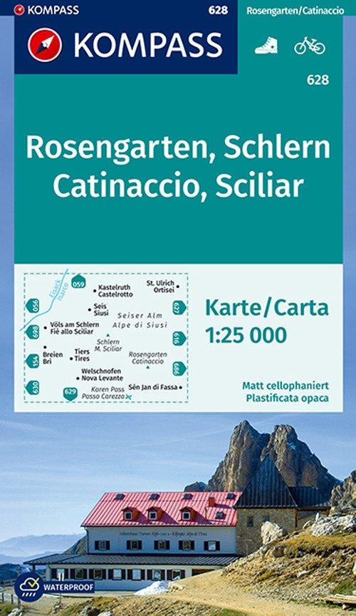 Carta escursionistica n. 628. Catinaccio, Sciliar-Rosengarten, Schlern 1:25.000. Adatto a GPS. Digital map. DVD-ROM
