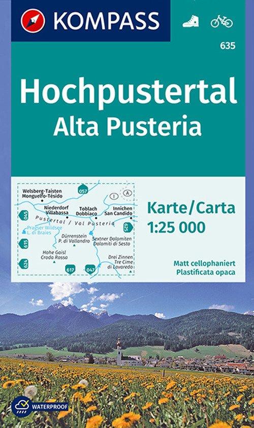 Carta escursionistica n. 635. Alta Pusteria-Hochpustertal 1:25.000. Adatto a GPS. Digital map. DVD-ROM