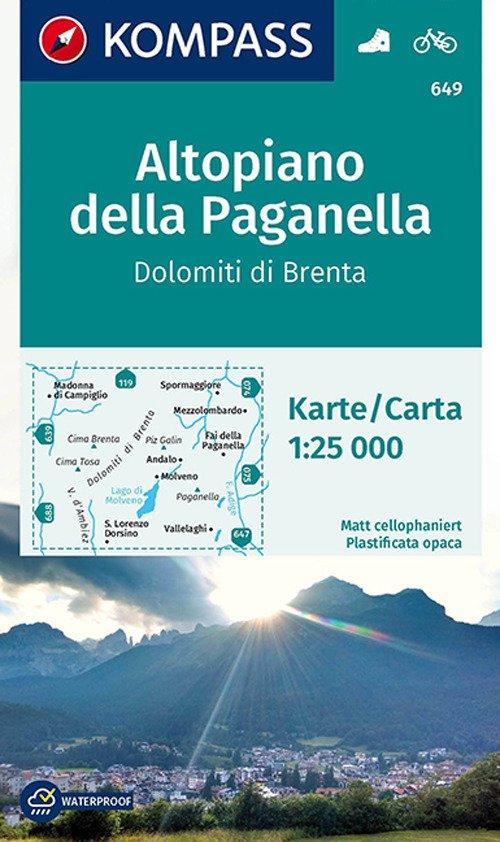 Carta escursionistica n. 649. Altopiano della Paganella, Dolomiti di Brenta 1:25.000. Adatto a GPS. Digital map. DVD-ROM