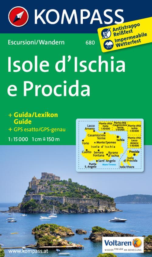 Carta escursionistica n. 680. Isole d'Ischia e Procida 1:15.000 + piantina 1:10.000. Adatto a GPS. Digital map. DVD-ROM