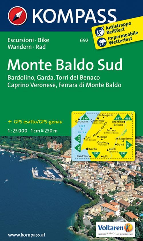 Carta escursionistica n. 692. Monte Baldo Sud 1:25.000. Adatto a GPS. Digital map. DVD-ROM