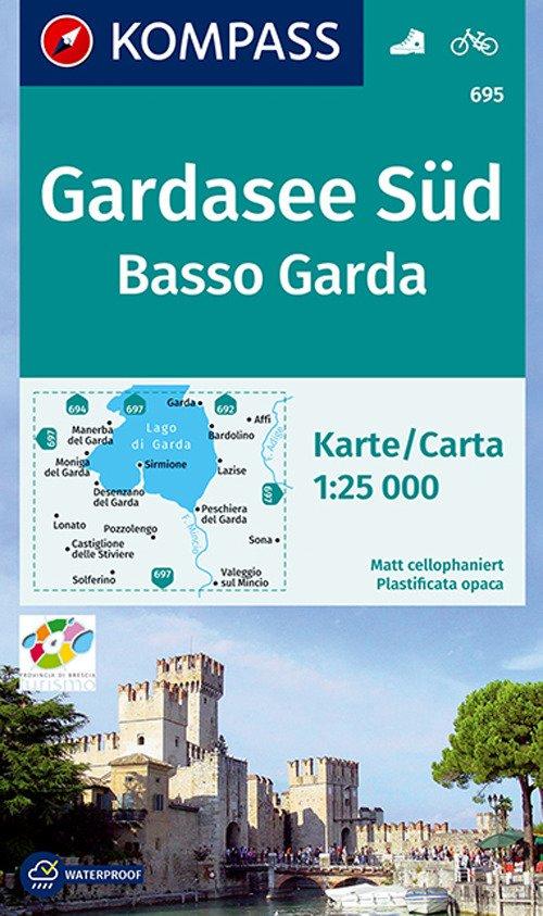 Carta escursionistica n. 695. Basso Garda-Gardasee Süd 1:25.000. Adatto a GPS. Digital map. DVD-ROM