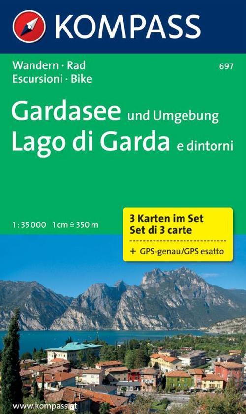 Carta escursionistica n. 697. Lago di Garda e dintorni 1:35.000. Adatto a GPS. Digital map. DVD-ROM