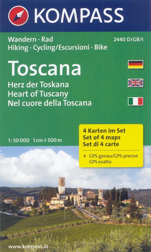 Carta escursionistica n. 2440. Nel cuore della Toscana-Herz der Toscana. Adatto a GPS. Digital map. DVD-ROM