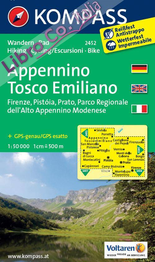 Carta escursionistica n. 2452. Appennino Tosco Emiliano. Adatto a GPS. Digital map. DVD-ROM